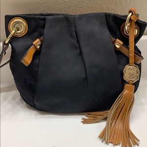 Vince Camuto nylon and leather crossbody